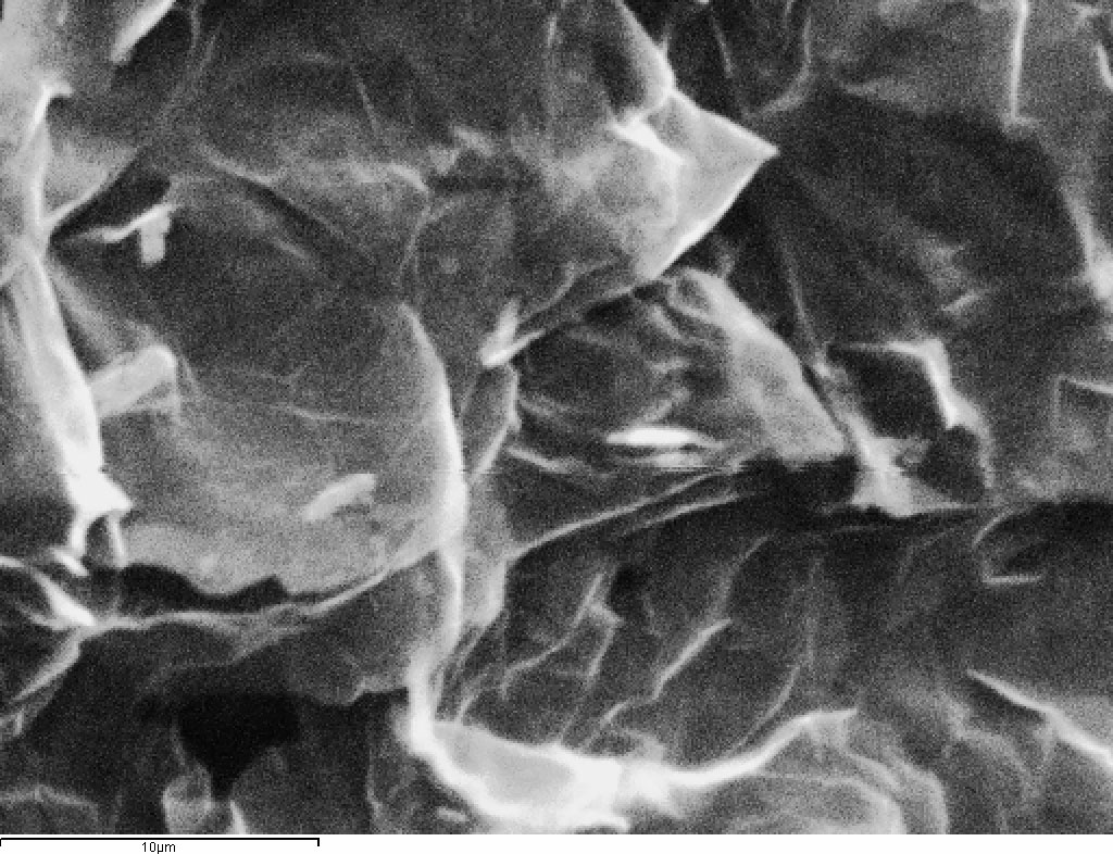 Expandable graphite at 10 microns